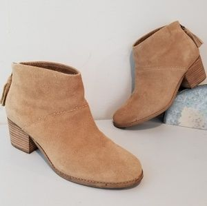 Toms Womens Ankle Tassle Booties size 8.5 M